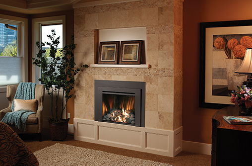 Fireplace inserts for the bedroom or any room, available at the fireplace store at Luce's Chimney and Stove Shop.