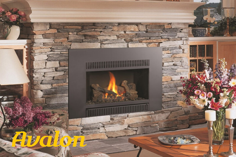 Avalon gas fireplaces, sales and installation. Gas fireplace showroom available at Luce's Chimney and Stove Shop, serving Ohio, Michigan and Indiana.
