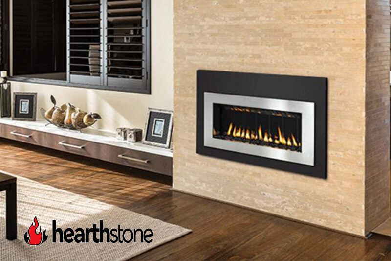 Hearthstone gas fireplaces available at Luce's Chimney & Stove Shop, featuring sales and installation for Ohio, Michigan and Indiana areas.