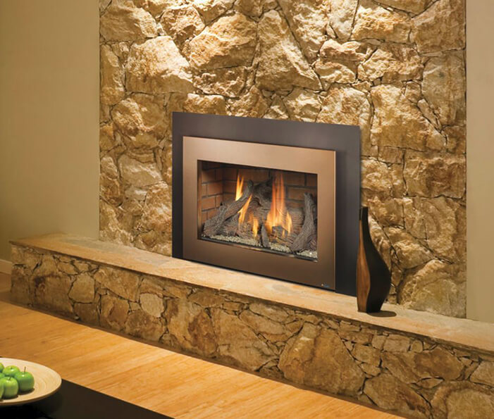 Home fireplace insert available at Luce's Chimney and Stove Shop, serving Ohio, Michigan and Indiana.
