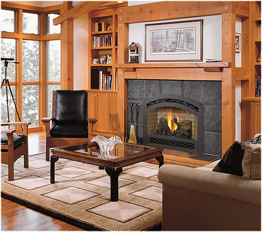 Gas fireplaces Toledo OH area showroom, gas fireplace displays.