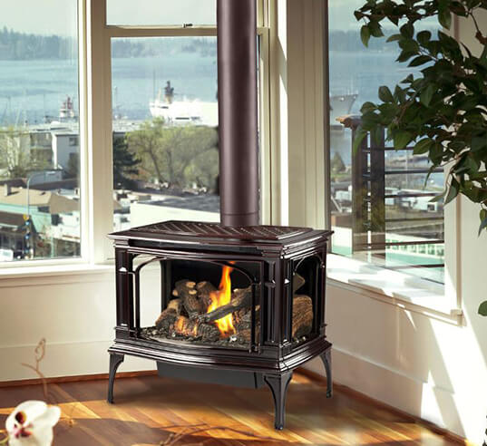 Gas Heating Stoves available for Ohio, Michigan and Indiana homes by Luce's Chimney and Stove Shop near Toledo Ohio.