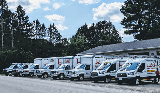 Luce's Chimney & Stove Shop chimney services trucks that serve the NW Ohio, Michigan & Indiana areas.