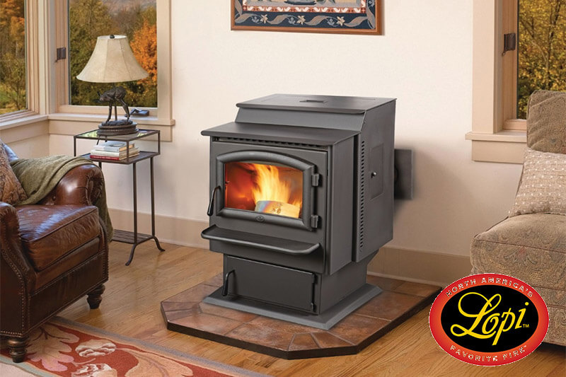 Lopi pellet heating stoves, quality USA made heating stoves available at Luce's Chimney and Stove Shop, serving Ohio, Michigan and Indiana.