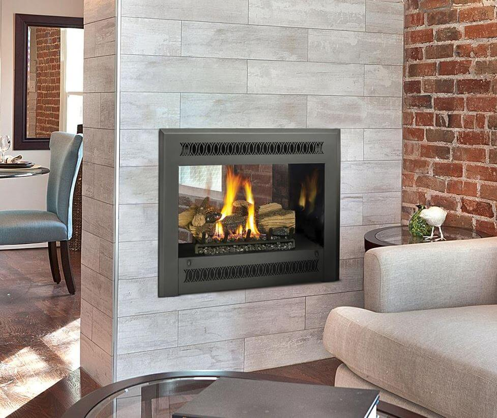 see thru gas fireplace at Luce's Chimney and Stove Shop in Toledo OH