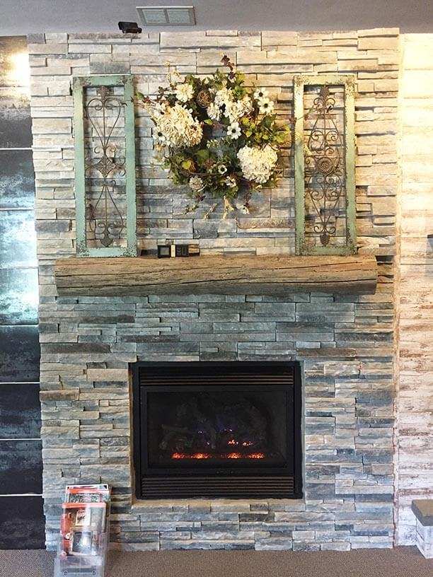 Stone fireplace, fireplace updates from Luce's Chimney and Stove Shop.