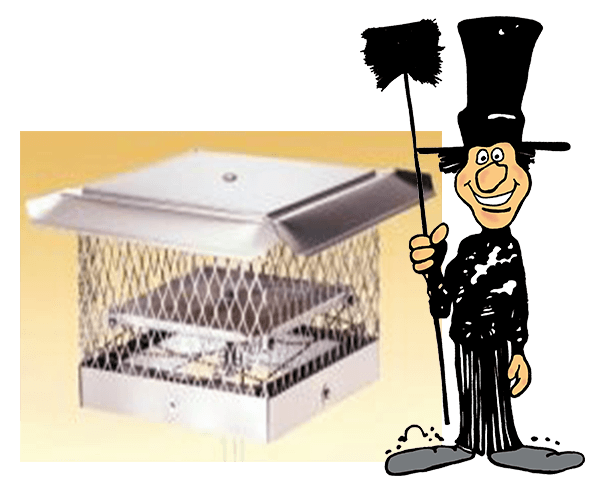 Top sealing chimney damper, a great solution for reducing chimney drafts and keeping cool or warm air in the home. Buy, installed and repaired by Luce's Chimney and Stove Shop, serving Ohio, Michigan and Indiana.