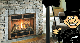 Fireplace sales, service, parts. Wood burning fireplace Toledo OH area showroom.