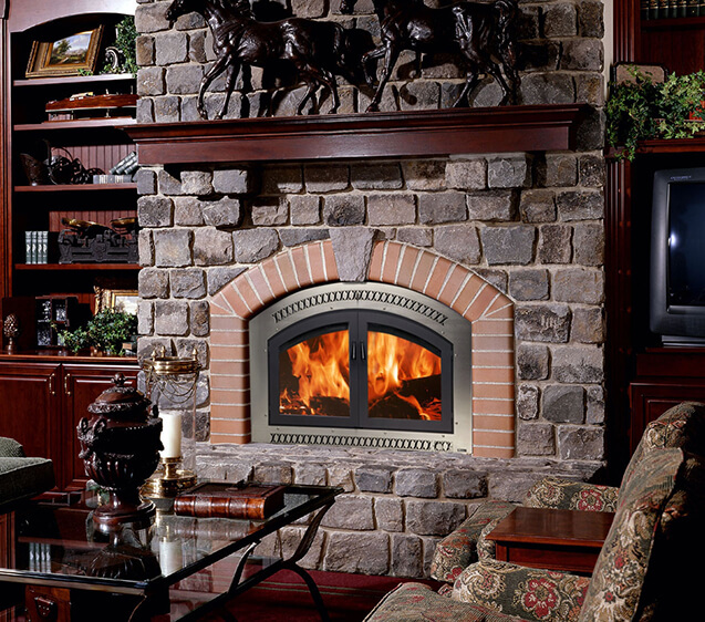 Wood burning fireplace insert from Luce's Chimney & Stove Shop, serving Ohio, Michigan and Indiana, fireplace gas.